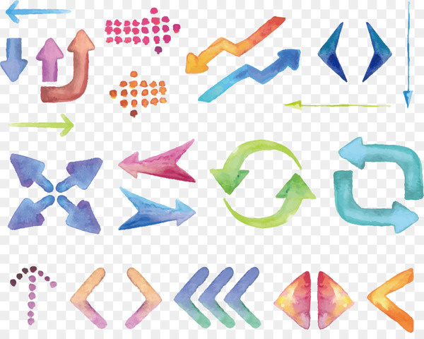 Euclidean vector Arrow Download - Vector hand-painted color Tags  png image transparent background