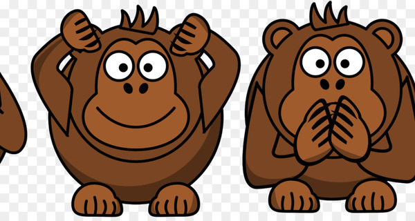 Pan Ape Three wise monkeys Primate - monkey  png image transparent background