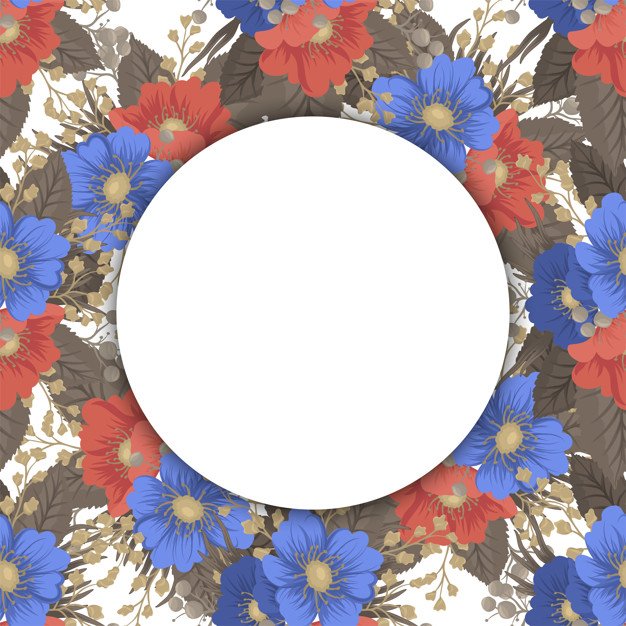 Circle flower borders - round frame Free Vector png image transparent background