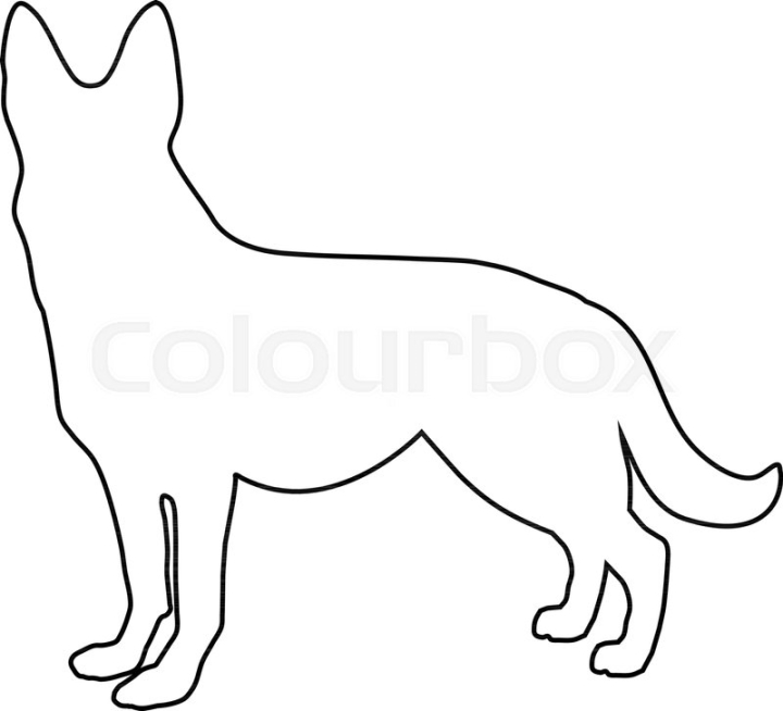 Black outline silhouette of german ... | Stock vector | Colourbox png image transparent background