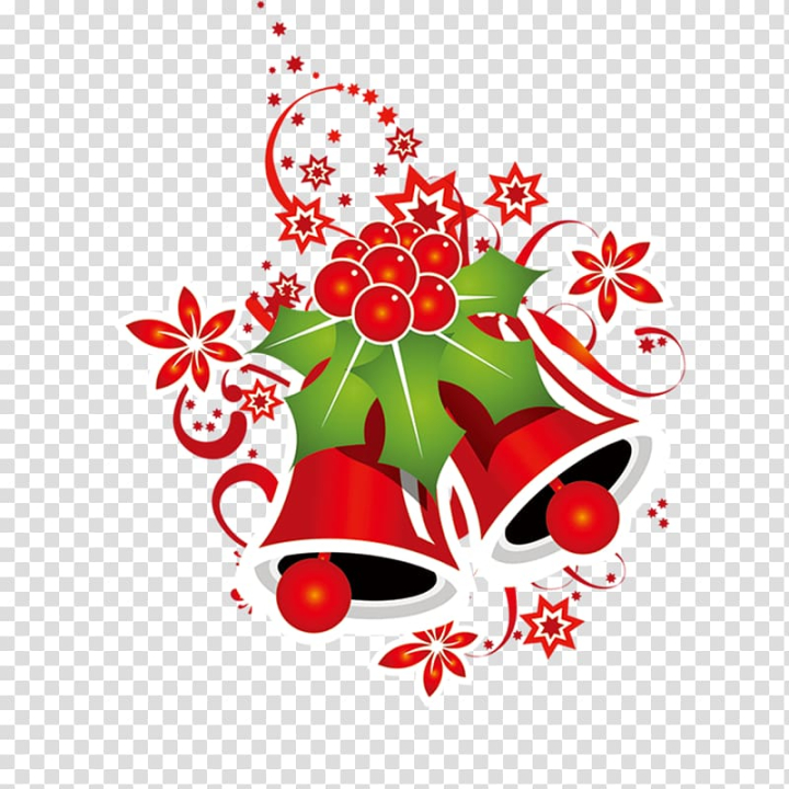 Christmas Bell Red Christmas Bells Transparent Background