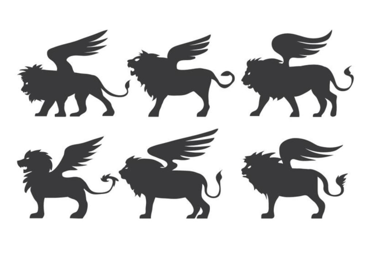 Brown lion illustration, Winged lion, Long wings of the lion transparent  background PNG clipart   HiClipart