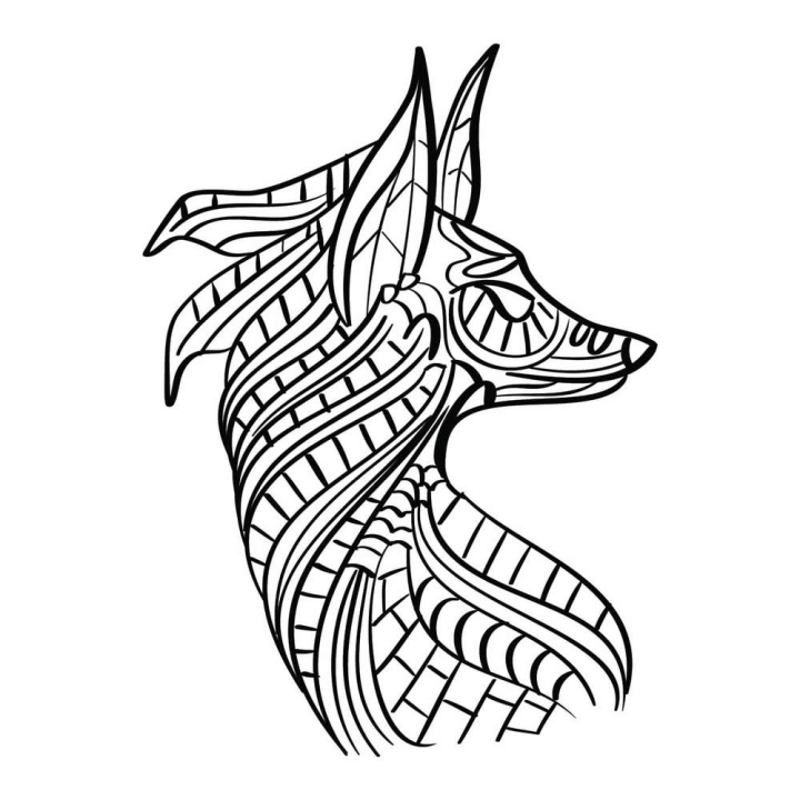Fox Coloring Page - Nohat