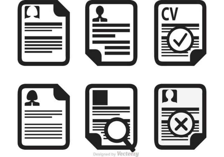 Curriculum Vitae Icons Vector Nohat