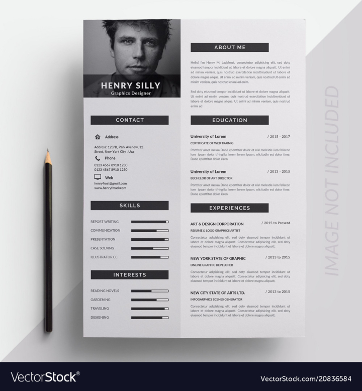 Resume Vector Image Nohat