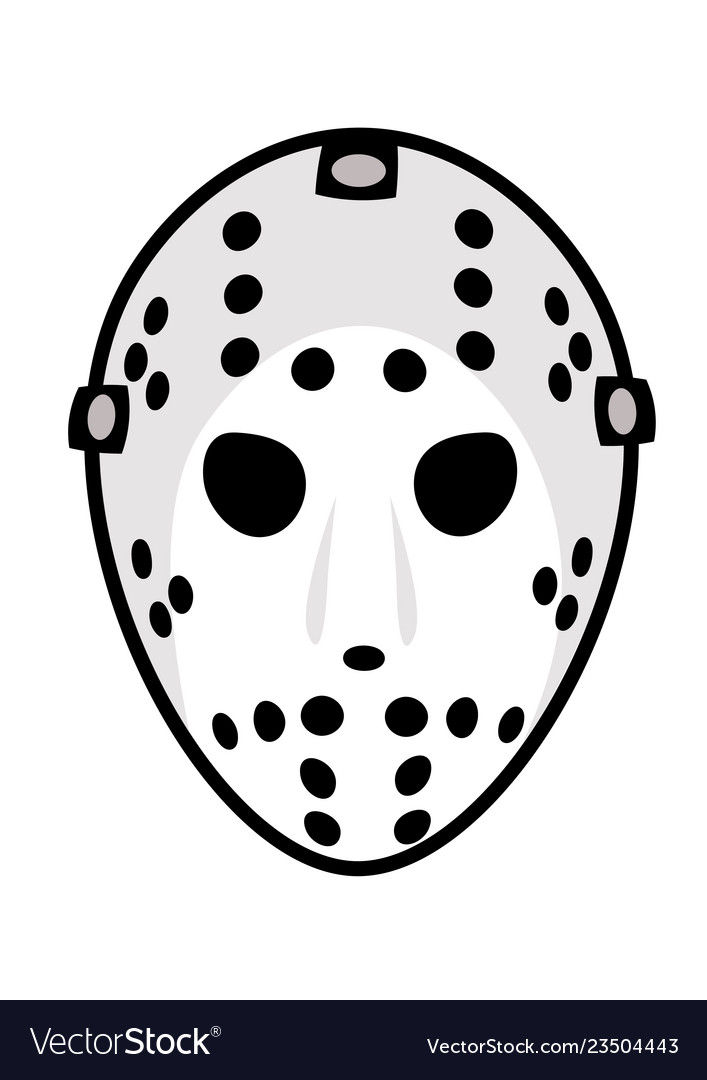 Hockey Mask Vector Image Nohat Free For Designer