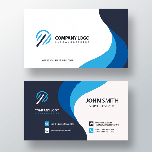 Blue Wavy Business Card Free Psd Nohat,Roadside Design Guide Table 31