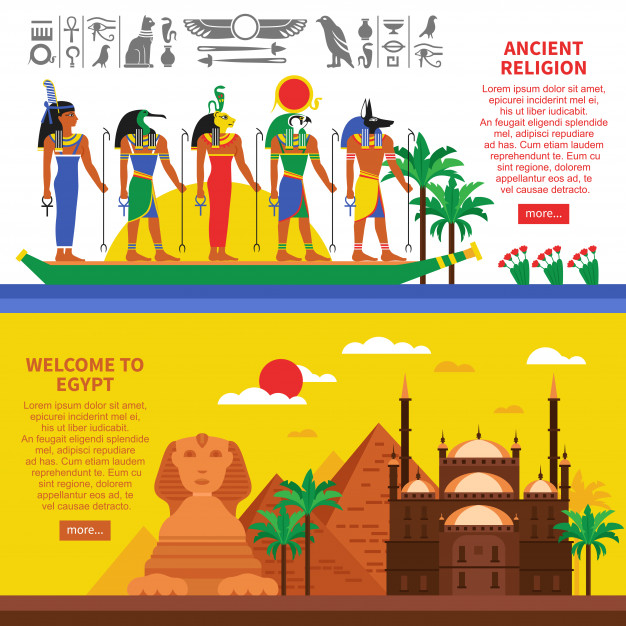 Egypt Horizontal Banners Free Vector Nohat Free For Designer