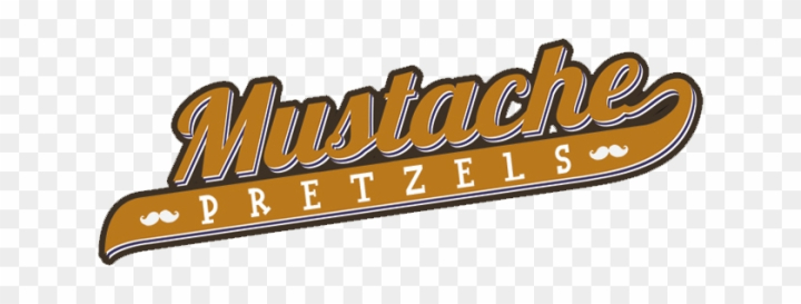 Logo Mustache Pretzels - Mustache Pretzel Food Truck png image transparent background