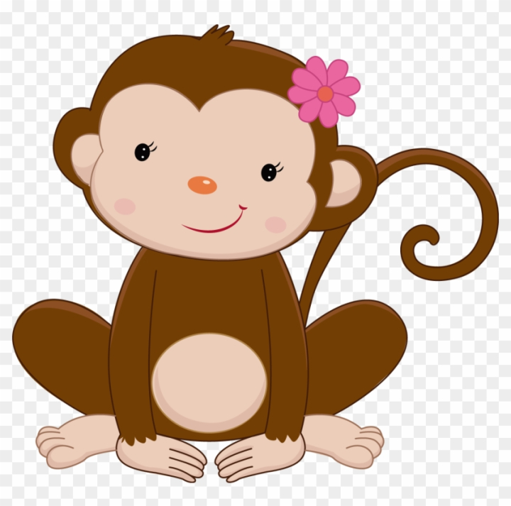 Monkey Baby Shower Clip Art For Kids Jungle Animals Clipart Monkey Nohat Free For Designer